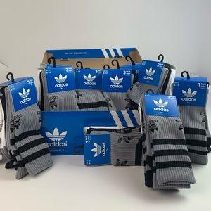 adidas Originals Pack of 3 Trefoil Crew Socks 6-12